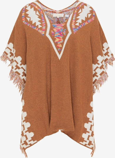 usha FESTIVAL Cape in Cognac / Mixed colours / White, Item view