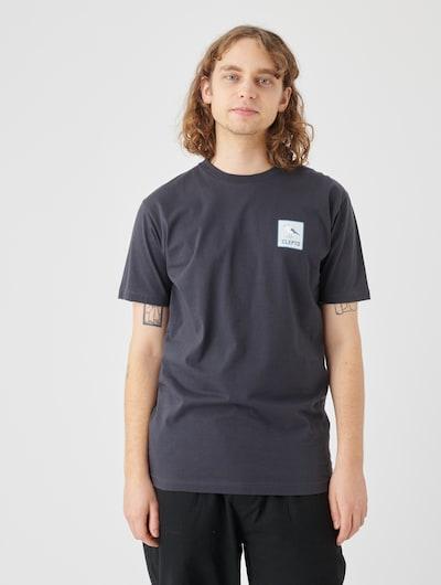 Cleptomanicx Basic T-Shirt mit kleinem Transferprint in schwarz: Frontalansicht