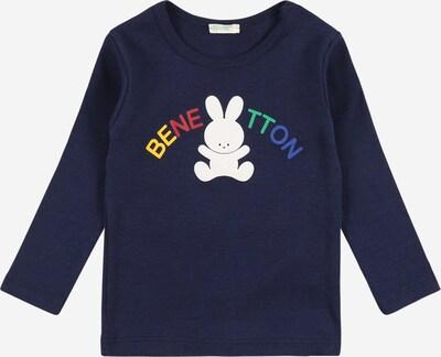 UNITED COLORS OF BENETTON Camiseta en azul / azul oscuro / amarillo / verde / blanco, Vista del producto