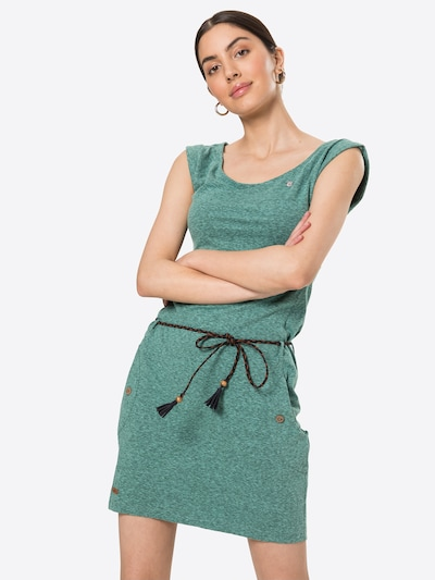 Ragwear Zomerjurk 'Tag' in de kleur Smaragd, Modelweergave