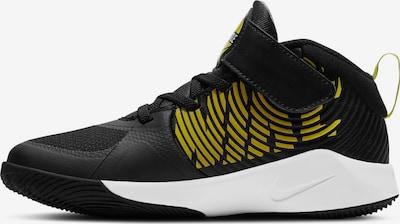 NIKE Sportschuh 'TEAM HUSTLE D 9' in gelb / schwarz / weiß, Produktansicht