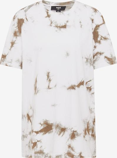 Mavi T-Shirt in ocker / weiß, Produktansicht