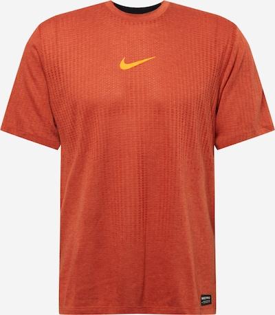 NIKE Sportshirt in gelb / dunkelorange, Produktansicht