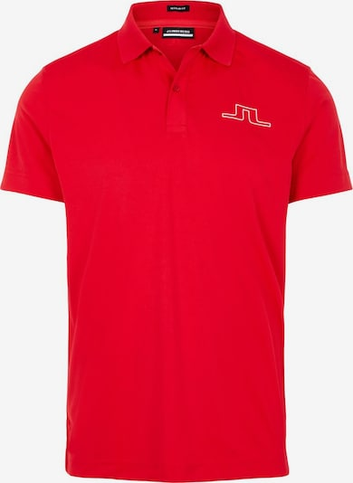 J.Lindeberg Poloshirt in rot: Frontalansicht