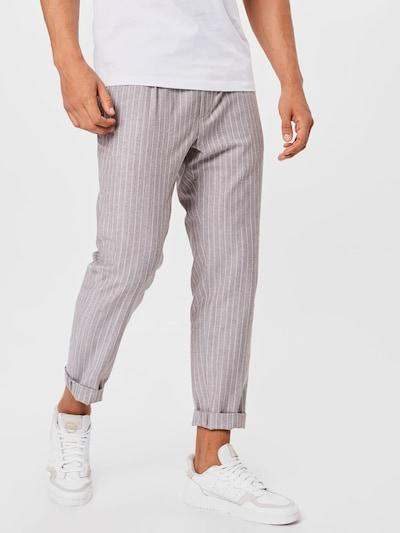JOOP! Kalhoty se sklady v pase 'Eames' - velbloudí / bílá, Model/ka