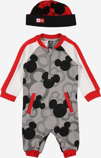 ADIDAS PERFORMANCE Trainingsanzug in grau / rot / schwarz / weiß, Produktansicht