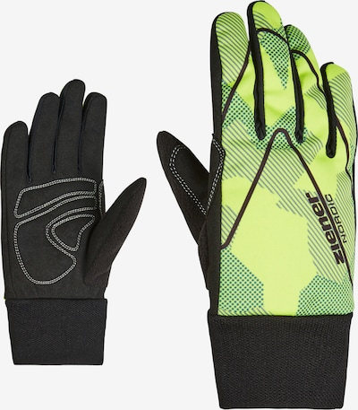 ZIENER Langlaufhandschuh 'UNICO' in limette / schwarz, Produktansicht