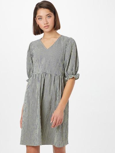 Moves Kleid in dunkelblau / hellgrün, Modelansicht