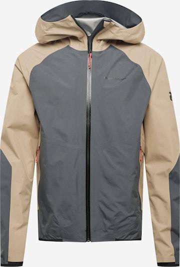 PEAK PERFORMANCE Outdoorjas in de kleur Bruin / Donkergrijs, Productweergave