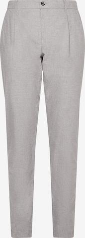 TOMMY HILFIGER Bundfaltenhose in Grau