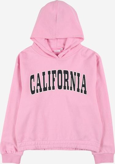 NAME IT Sweatshirt 'Lacia' in de kleur Rosa / Zwart, Productweergave