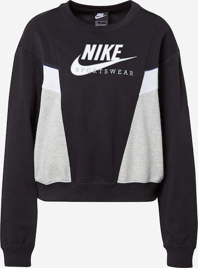 Nike Sportswear Sweatshirt 'Heritage' in blau / grau / schwarz / weiß, Produktansicht