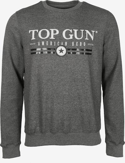 TOP GUN Sweatshirt in graumeliert, Produktansicht