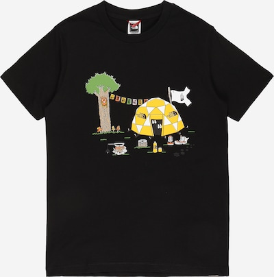 THE NORTH FACE Sportshirt in gelb / grün / orange / schwarz / weiß, Produktansicht