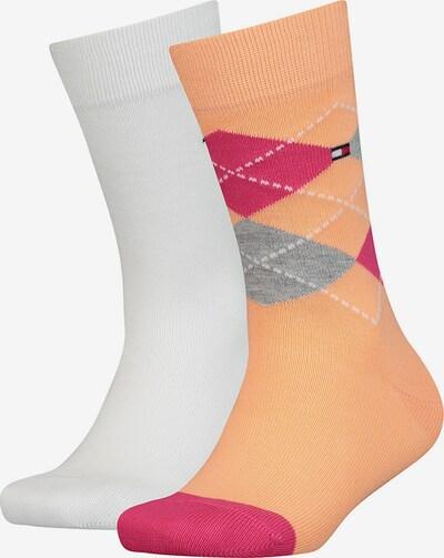 TOMMY HILFIGER Socken in hellorange / weiß, Produktansicht
