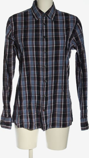 PUR Langarmhemd in S in blau / schwarz / weiß, Produktansicht