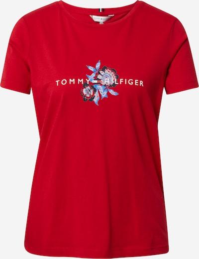 TOMMY HILFIGER Tričko - námořnická modř / světlemodrá / červená / bílá, Produkt
