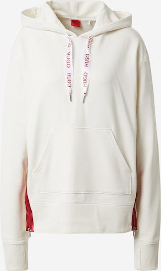 HUGO Sweatshirt 'Dreali' i creme / rød, Produktvisning