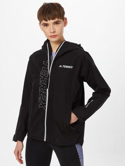 adidas Terrex Outdoorjas in de kleur Zwart / Wit: Vooraanzicht