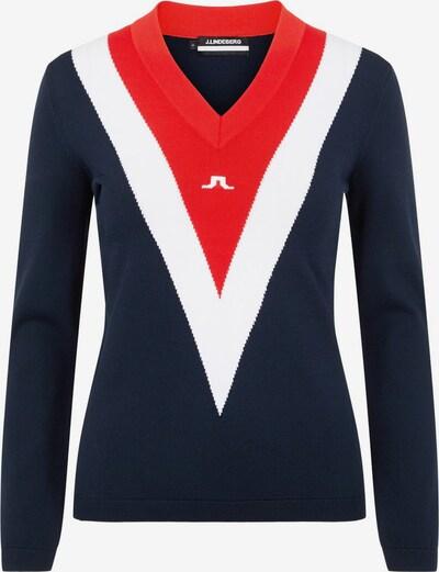 J.Lindeberg Sporttrui 'Shannon' in de kleur Navy / Rood / Wit, Productweergave