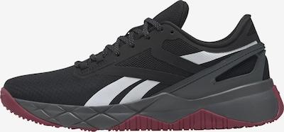 REEBOK Sportschoen 'Nanoflex' in de kleur Wijnrood / Zwart / Wit, Productweergave
