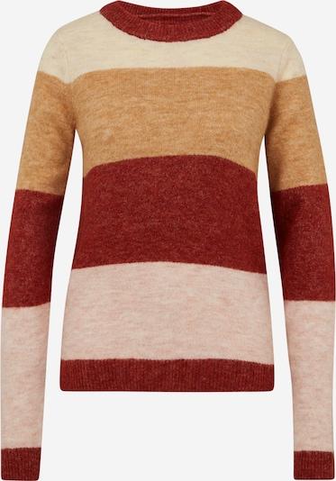 Vero Moda Tall Pullover 'PLAZA' in beigemeliert / rosa / rot, Produktansicht