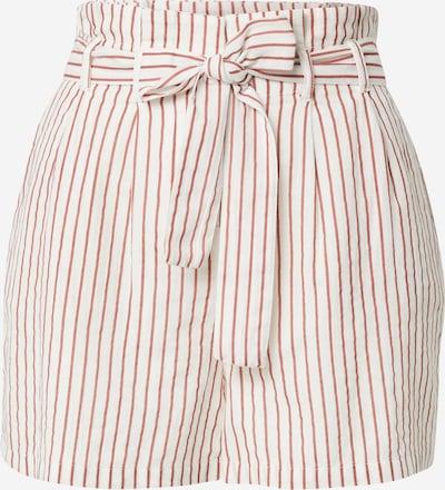 Pantaloni cutați 'HELI' VERO MODA pe roșu ruginiu / alb, Vizualizare produs