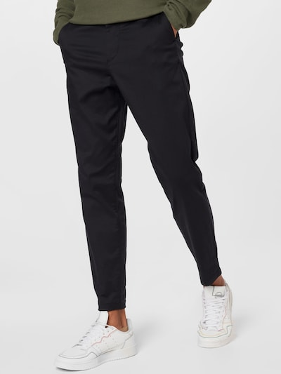 SELECTED HOMME Lærredsbukser i sort, Modelvisning