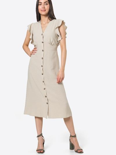 VILA Košulja haljina u svijetlobež / bijela, Prikaz modela