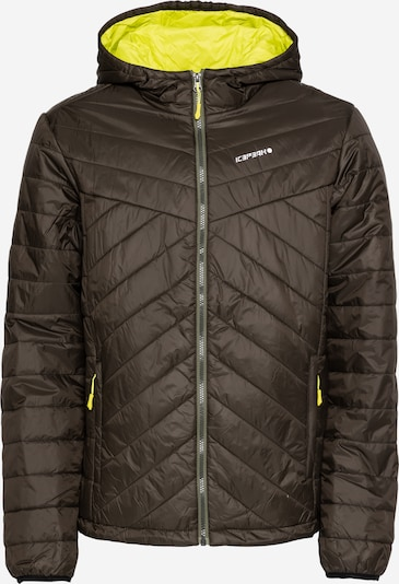ICEPEAK Sportjacke in gelb / dunkelgrün, Produktansicht