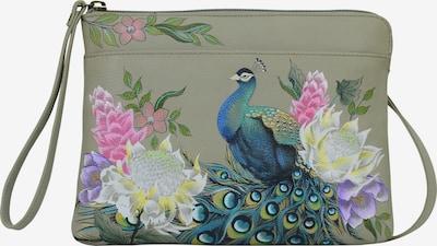 ANUSCHKA Umhängetasche 'Regal Peacock' aus handbemaltem Leder in mischfarben, Produktansicht
