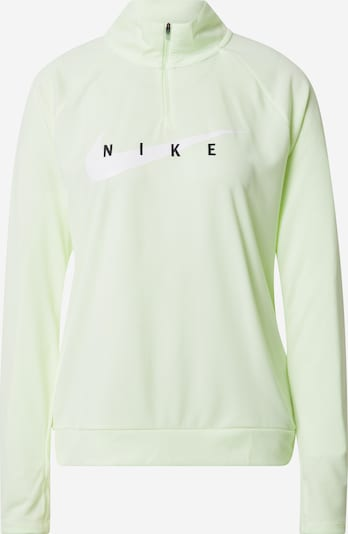 NIKE Sportiska tipa džemperis 'Swoosh Run' gaiši zaļš / melns / balts, Preces skats