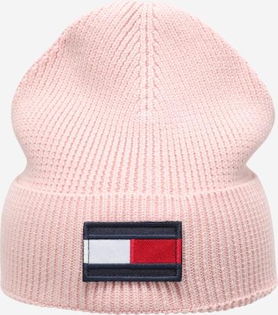 TOMMY HILFIGER Bonnet en bleu foncé / rose / rouge / blanc, Vue avec produit