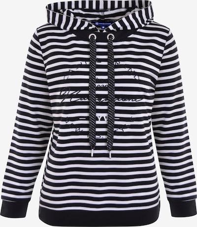 Navigazione Sweatshirt in schwarz / weiß, Produktansicht