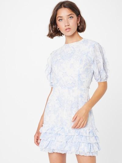 Rochie Missguided pe albastru fumuriu / alb, Vizualizare model