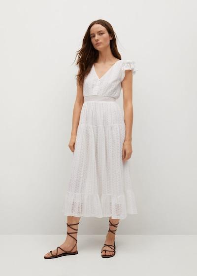 MANGO Kleid 'Madelen' in weißmeliert, Modelansicht