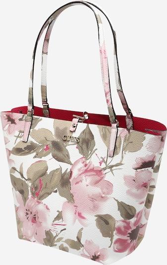 GUESS Nákupní taška 'Alby' - olivová / pink / růžová / bílá, Produkt