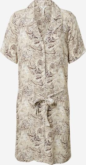 Rochie tip bluză 'KINNA' OBJECT pe bej / ciocolatiu, Vizualizare produs