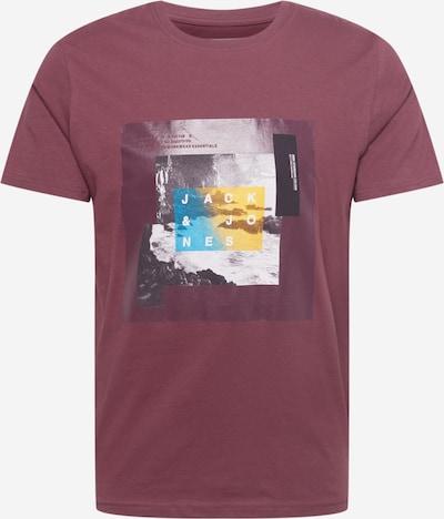 JACK & JONES T-Shirt in türkis / gelb / pastellrot / schwarz / weiß, Produktansicht
