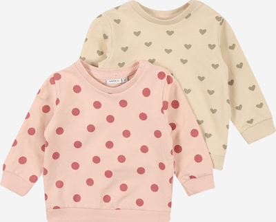 NAME IT Sweatshirt 'TINNE' in beige / rosa, Produktansicht