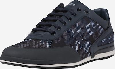 BOSS Sneaker 'Saturn' in nachtblau / braun / weiß, Produktansicht