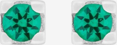 ID Fine Ohrstecker 'Glace' in grün / silber, Produktansicht