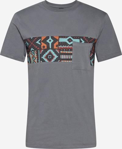 Iriedaily Tričko 'Theodore' - tmavosivá / zmiešané farby, Produkt