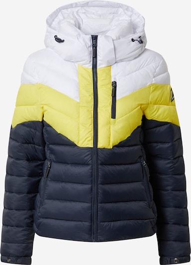 Superdry Tussenjas in de kleur Donkerblauw / Geel / Wit, Productweergave