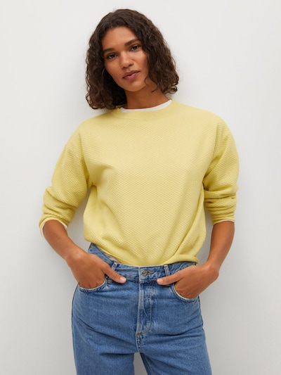 MANGO Pullover in gelb, Modelansicht