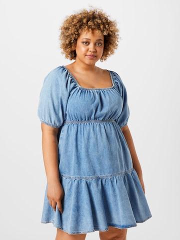 River Island Plus Summer Dress in Blue