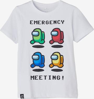 NAME IT T-shirt i vit