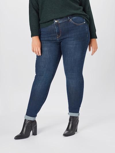 Selected Femme Curve Jeans 'Fina' in blue denim, Modelansicht