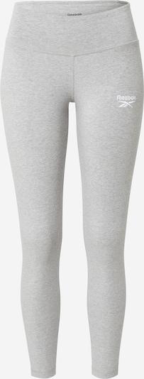 Reebok Sport Pantalon de sport en gris chiné / blanc, Vue avec produit