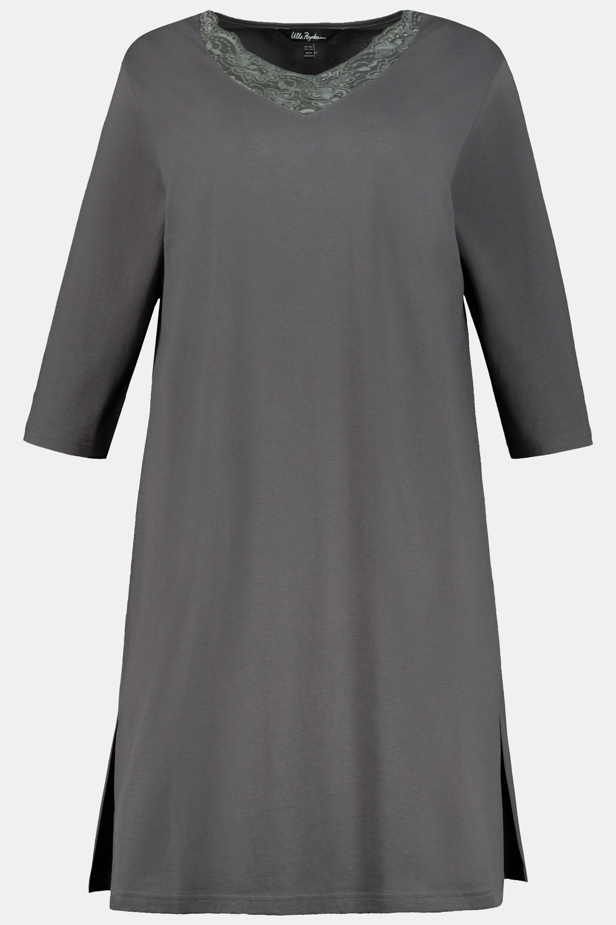 Ulla Popken Nachthemd in anthrazit